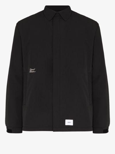 logo shirt jacket