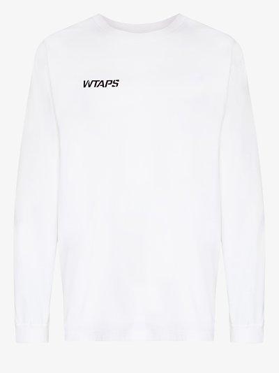 stencil logo cotton T-shirt