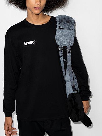 Stencil Long Sleeve Cotton T-Shirt