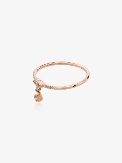 14K rose gold Gravity diamond ring