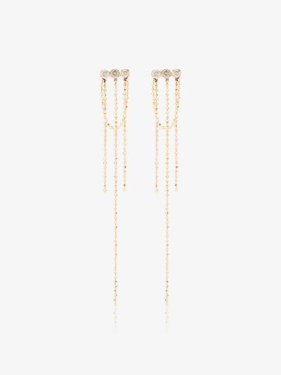 14K yellow gold Elements diamond earrings
