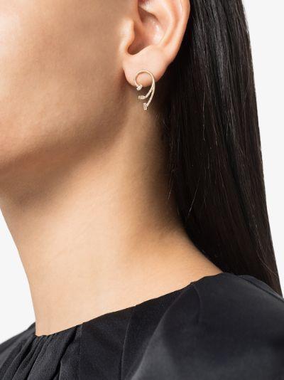 14K yellow gold gravity diamond earrings