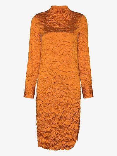 Wrinkle midi dress