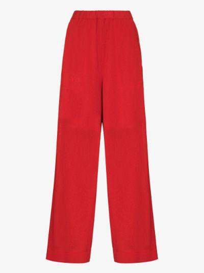 airy gauze wide leg trousers