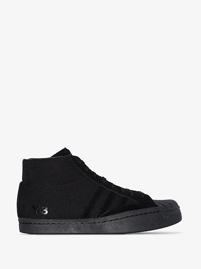 Black Yohji Pro high top sneakers