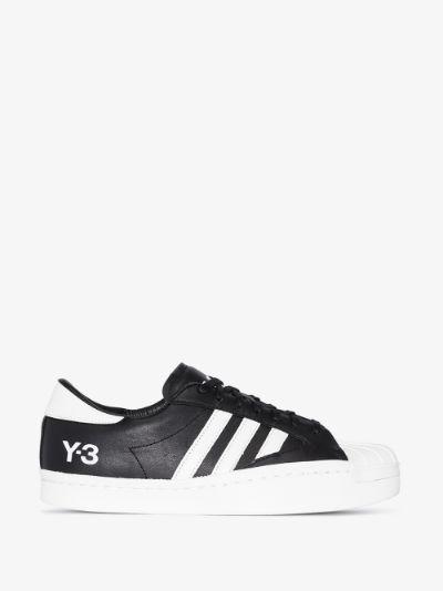 black Yohji Star leather sneakers