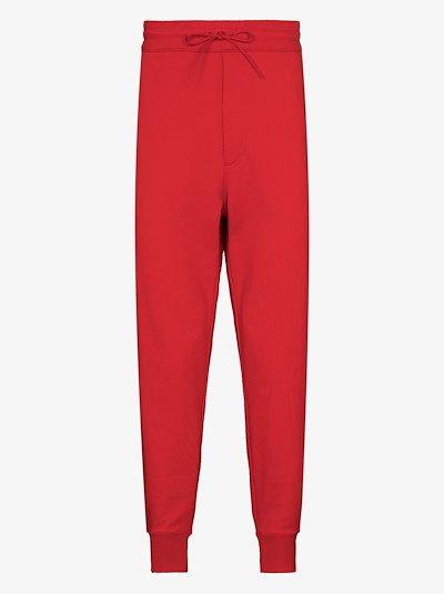 drawstring waist track pants