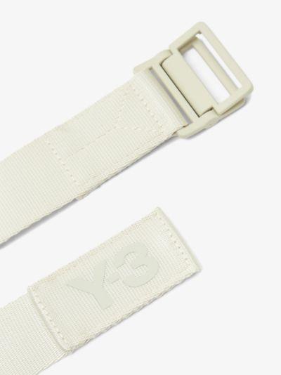 Neutral classic logo belt