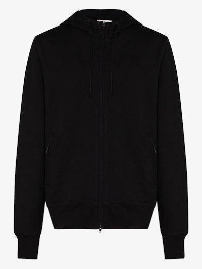 zip-up logo hoodie