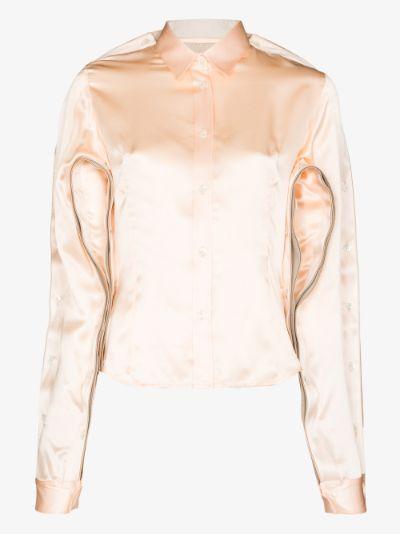 Button Sleeve Silk Shirt