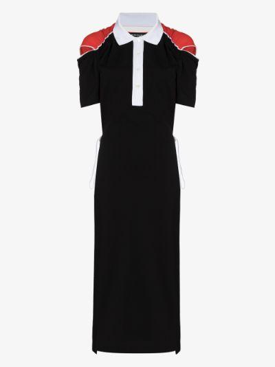 convertible cotton polo dress