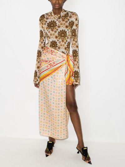 convertible silk scarf skirt