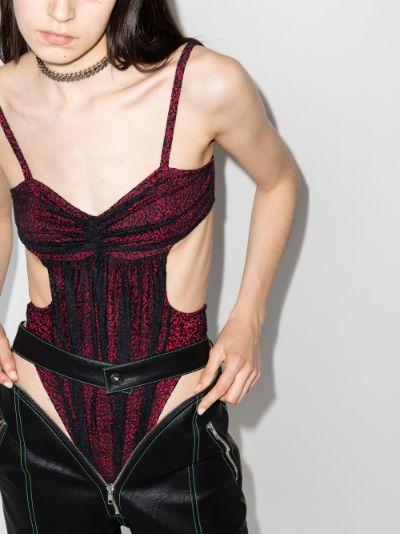 cutout lace bodysuit