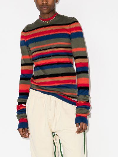 Maxi Sleeve Striped Sweater