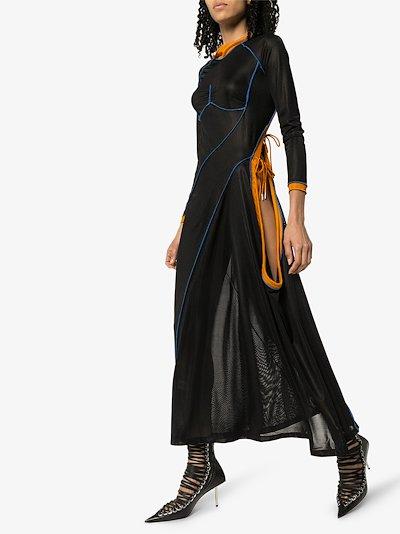 multi-tie mesh dress