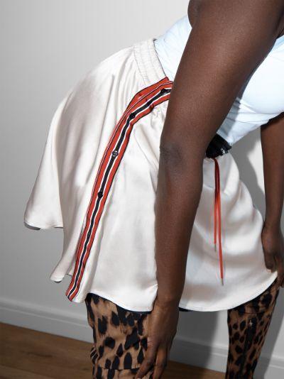 reversible silk mini skirt