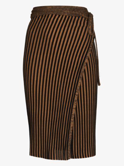 ribbed knit wrap skirt