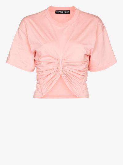 ruched corset T-shirt