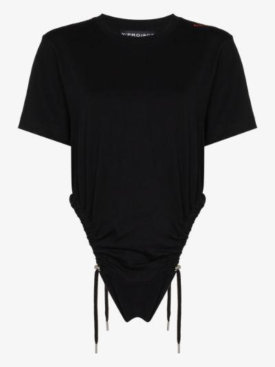 ruched logo bodysuit