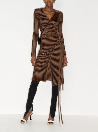 striped wrap cardigan