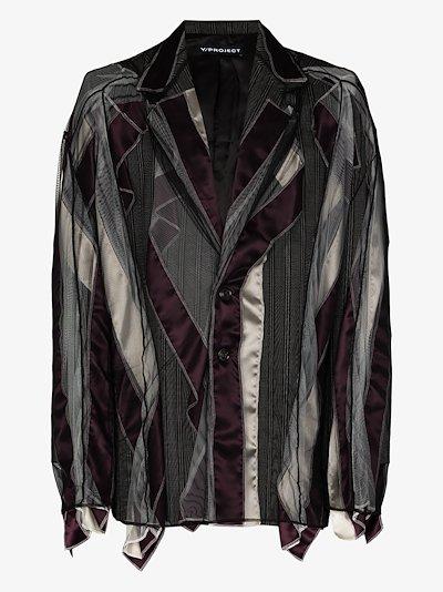 tulle pinstripe blazer jacket