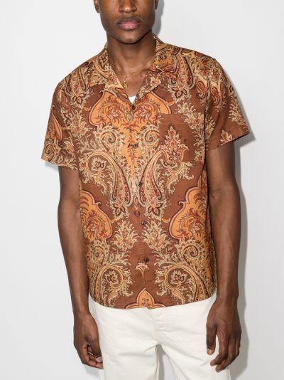 Malick paisley print cotton shirt