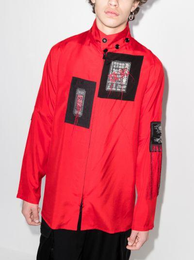 Patches silk shirt