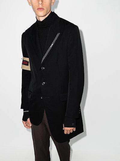 Selvedge detail wool blazer
