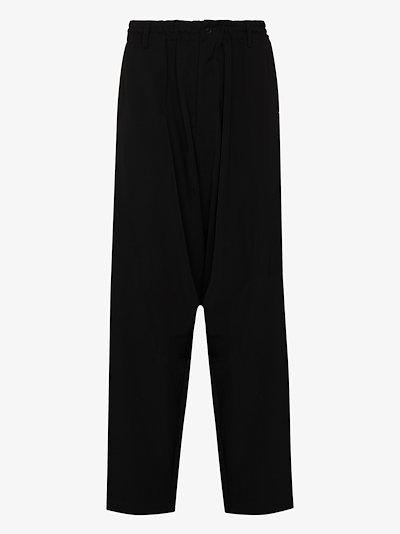 side zip wool trousers