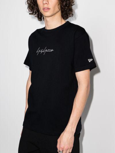 X New Era logo print T-shirt
