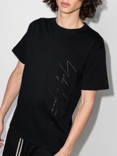 X New Era tonal print T-shirt