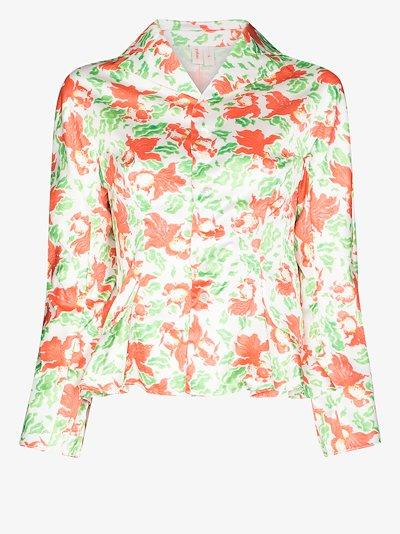 Chun goldfish print blouse