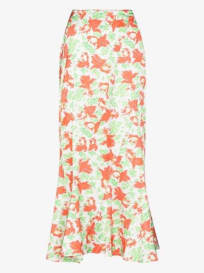 Chun goldfish print midi skirt