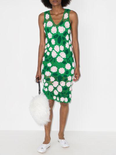 Rose Crochet Knit Dress