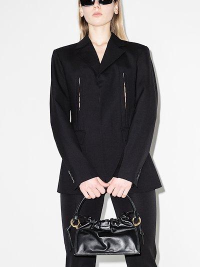 black Bom leather tote bag