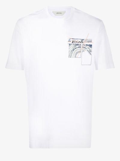 graphic print short sleeve T-shirt
