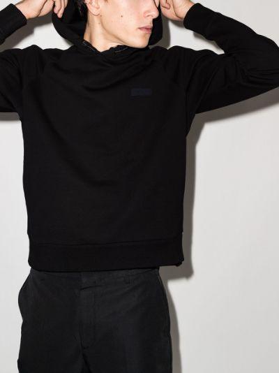 long-sleeved cotton hoodie