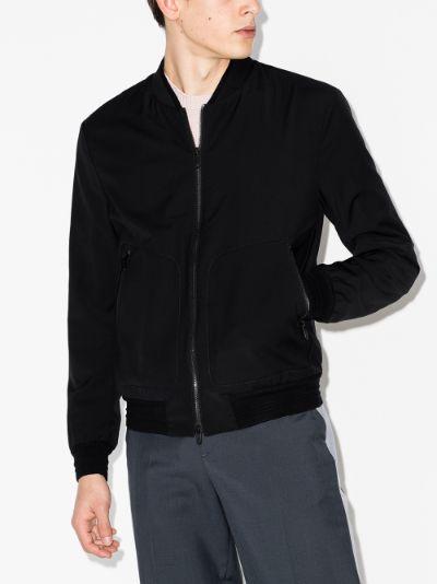 Tech Merino bomber jacket