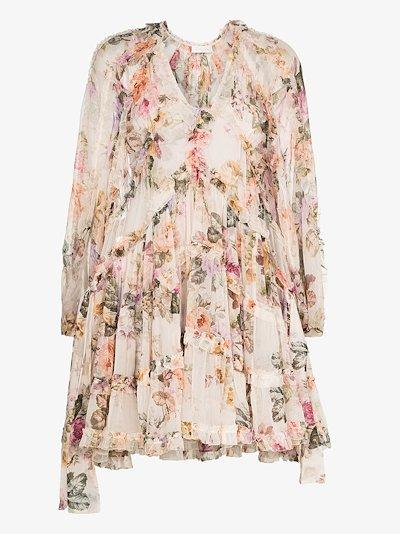 Brighton billow mini dress
