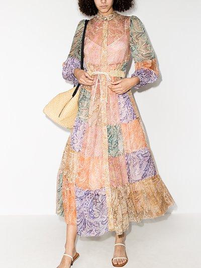 Brighton patchwork paisley midi dress