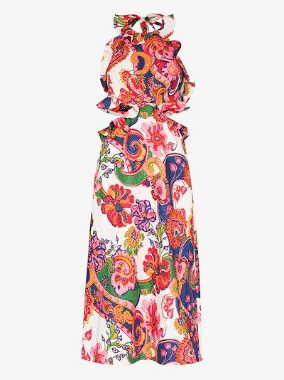 Lovestruck paisley cutout midi dress