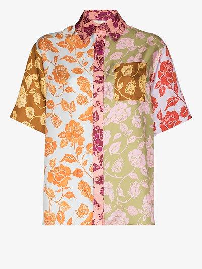 Lovestruck spliced silk shirt