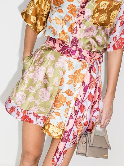 Lovestruck spliced silk shorts