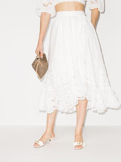 Lulu Ruffle Trim Wrap Skirt