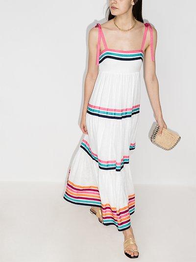 Lulu tiered ribbon maxi dress