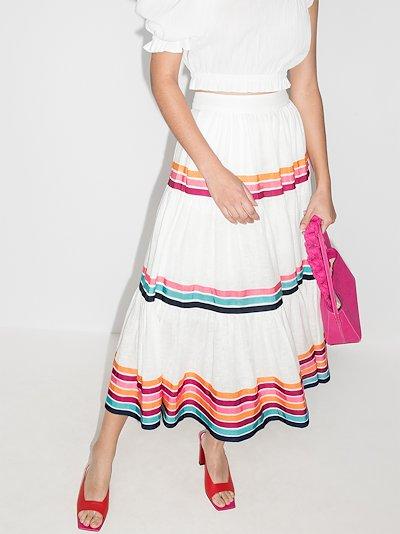 Lulu tiered ribbon midi skirt