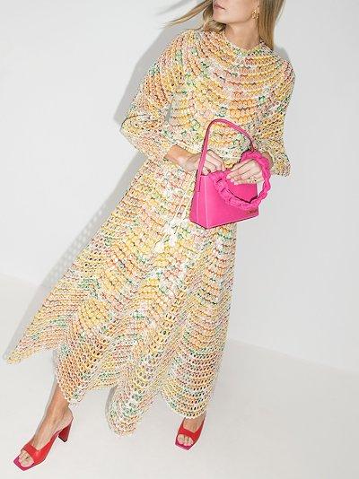 Poppy eyelet cotton midi dress