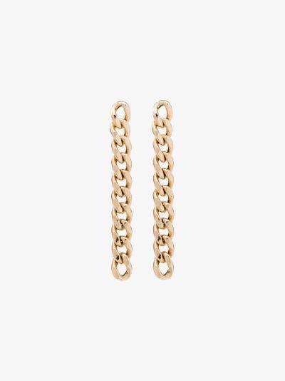 14K yellow gold chain drop earrings