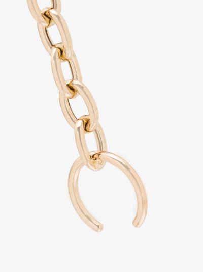 14K yellow gold chain ear cuff