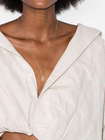 14K yellow gold dog tag diamond necklace
